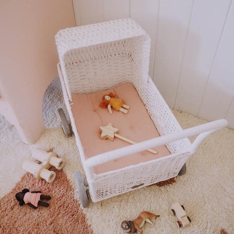 Strolley Mattress in Rose Doll beds, Mattress, Dolls prams