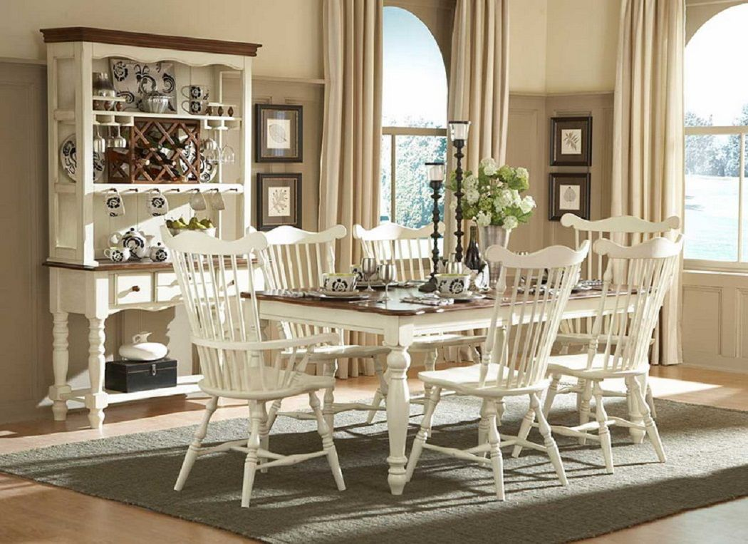 Elegant country dining room set decoration ideas primitive table