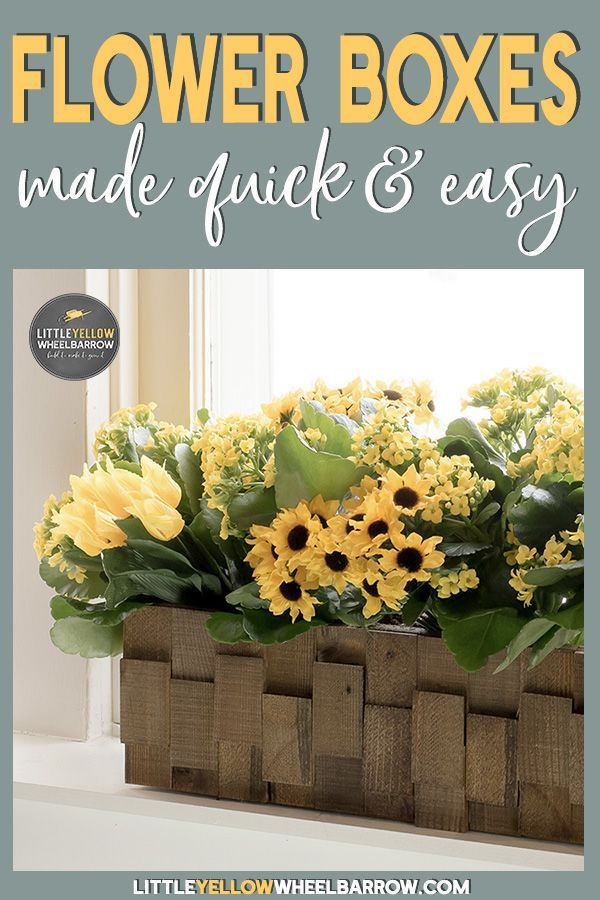 How to Build a Pretty Wooden Planter DIY Tribe * Pinterest DIY