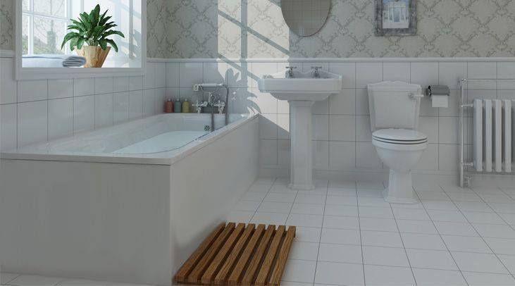 Salisbury Bathroom Suite With 1700 x 700mm Bath ...