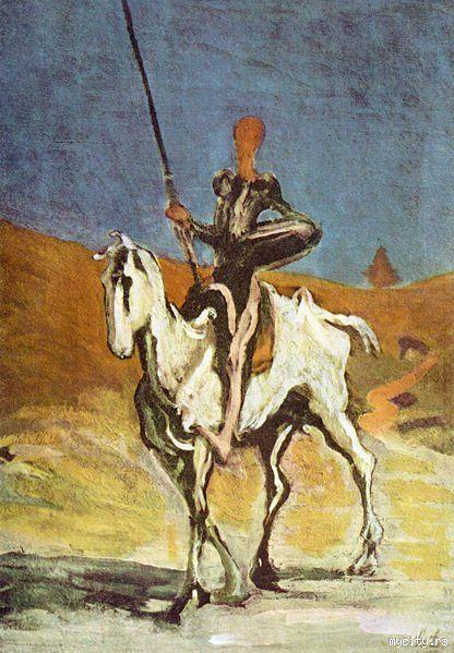 Резултат слика за оноре домије don quixote, sancho pansa and the dead mule