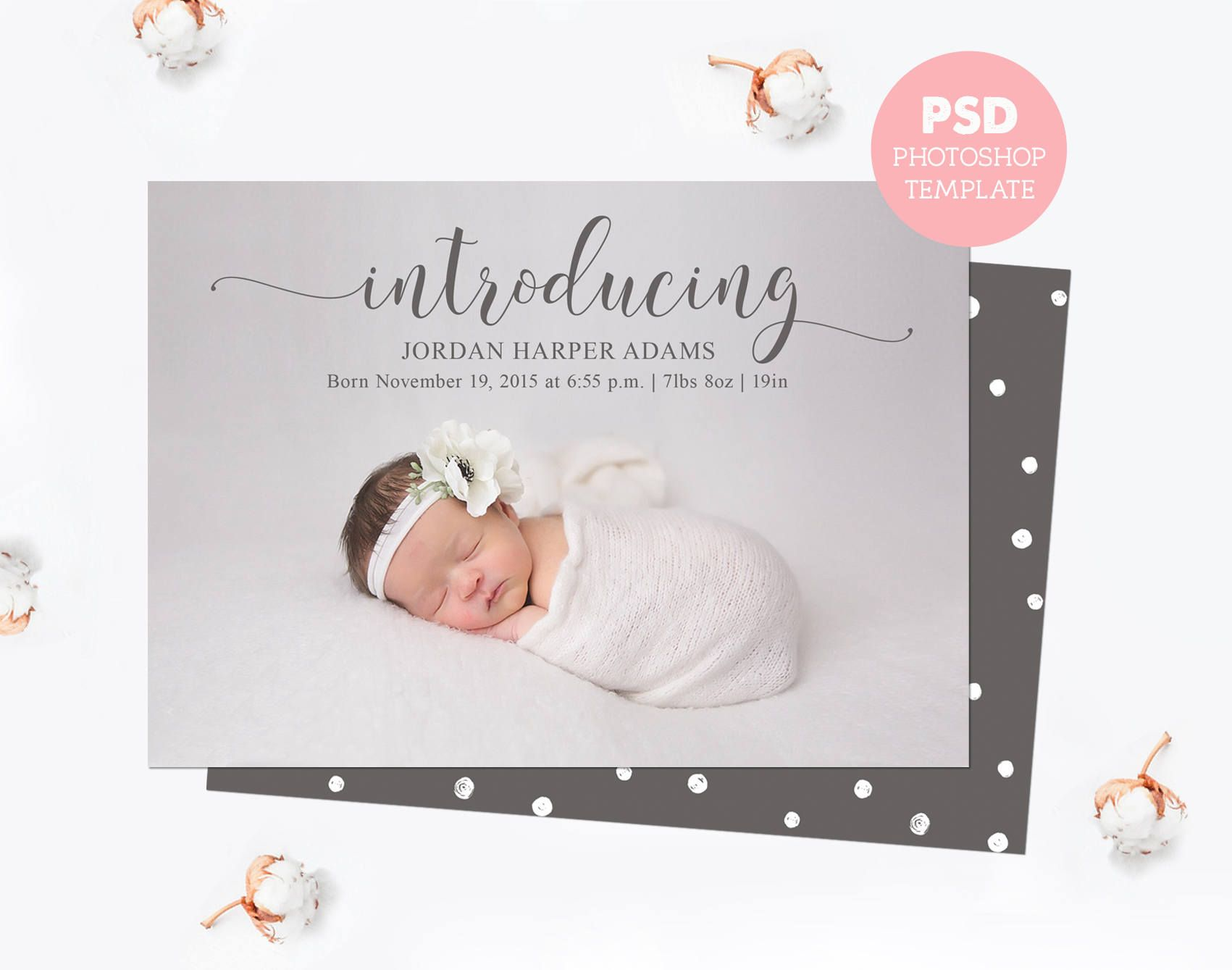 Pin By Pingooin On My Saves Birth Announcement Template Baby Announcement Cards Newborn Announcement