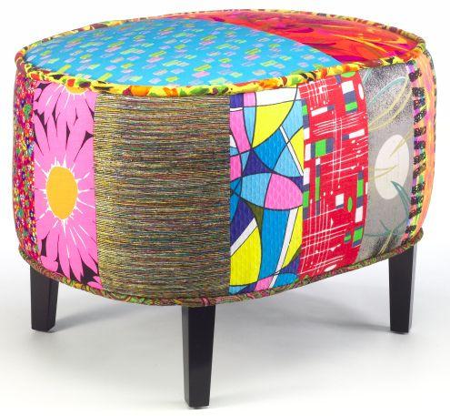 Nice Colorful Apryl Miller Ottoman