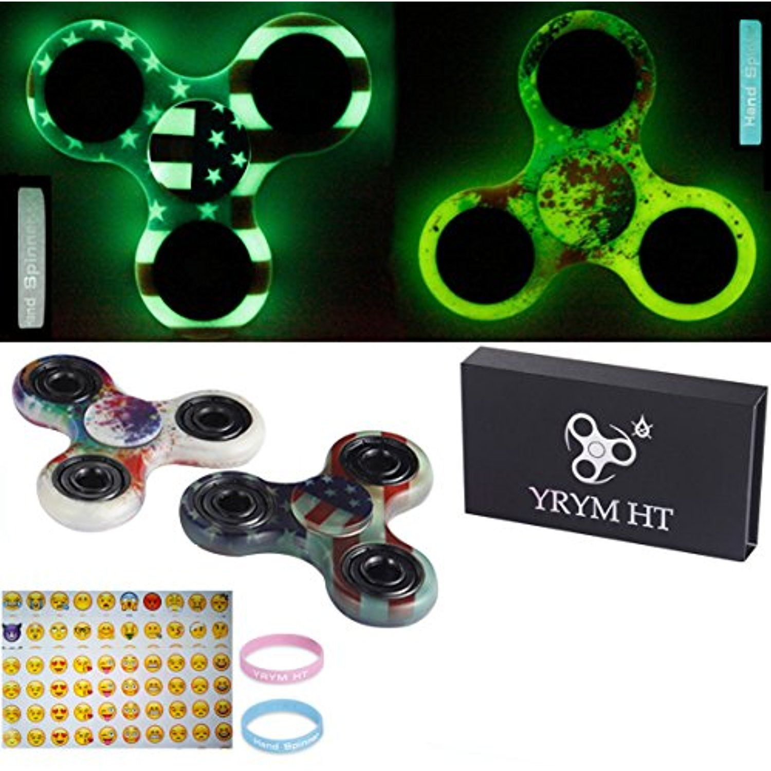 Fidget Spinner Glow In The Dark Hand Toys Premium Quality EDC Focus Toy For Finger Gadget Stress Reducer ADD ADHD Anxiety Autism