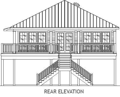 Berts Cottage Coastal Home Plans Beach House Plans House On Stilts Stilt House Plans