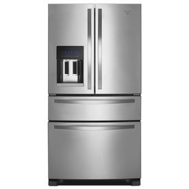 Whirlpool 25 Cu Ft 4 French Door Refrigerator With Single Ice Maker Monochromatic