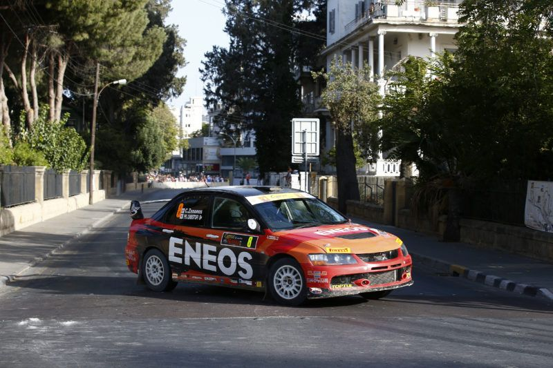 08 ZENONOS Costas and CHRISTOPHI Phanos MITSUBISHI LANCER EVO IX action during the 2016 European Rally Championship ERC Cyprus Rally,  from october  7 to 9  at Nicosie, Cyprus - Photo Gregory Lenormand / DPPI