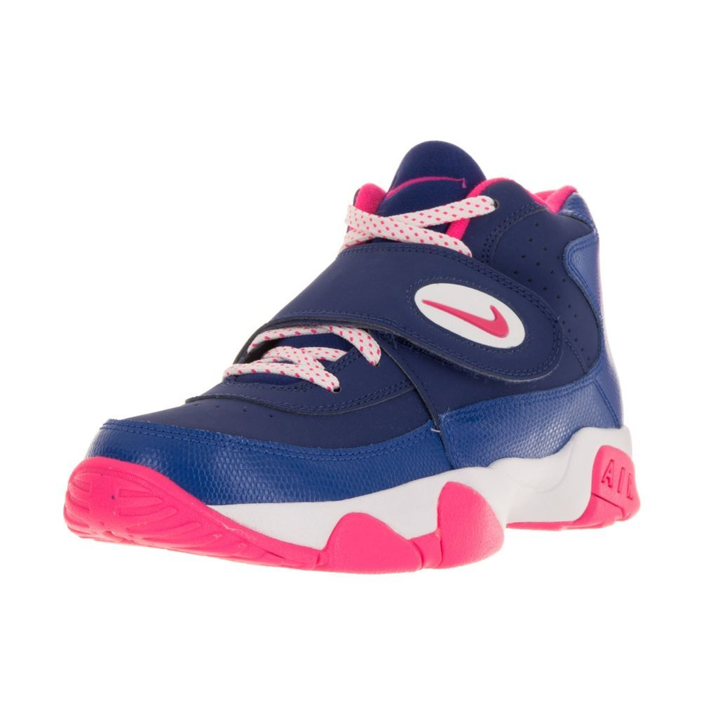 Nike Girls Air Mission Blue and Pink Leather Training Shoes