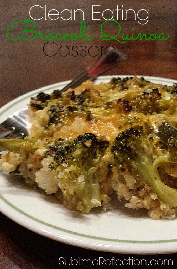 clean eating broccoli quinoa casserole ww pinterest manger sainement recette et recette sale. Black Bedroom Furniture Sets. Home Design Ideas