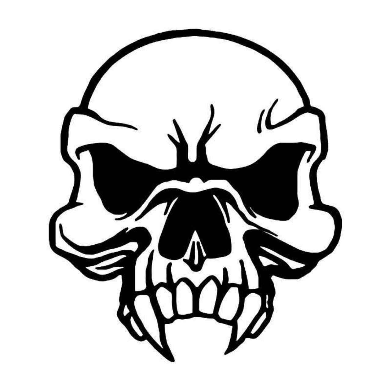Tribal Vampire Skull 4 Vinyl Decal Sticker Ballzbeatz