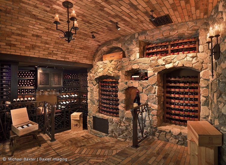 Wine Cellar Design Ideas modern wine tasting room and cellar design with custom wood cabinets and round antique table with Wine Cellar
