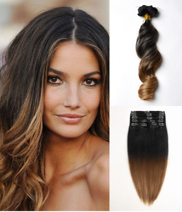 Sexy Three Colors Ombre Clip in Hair Extension Body Wave 13pieces ...