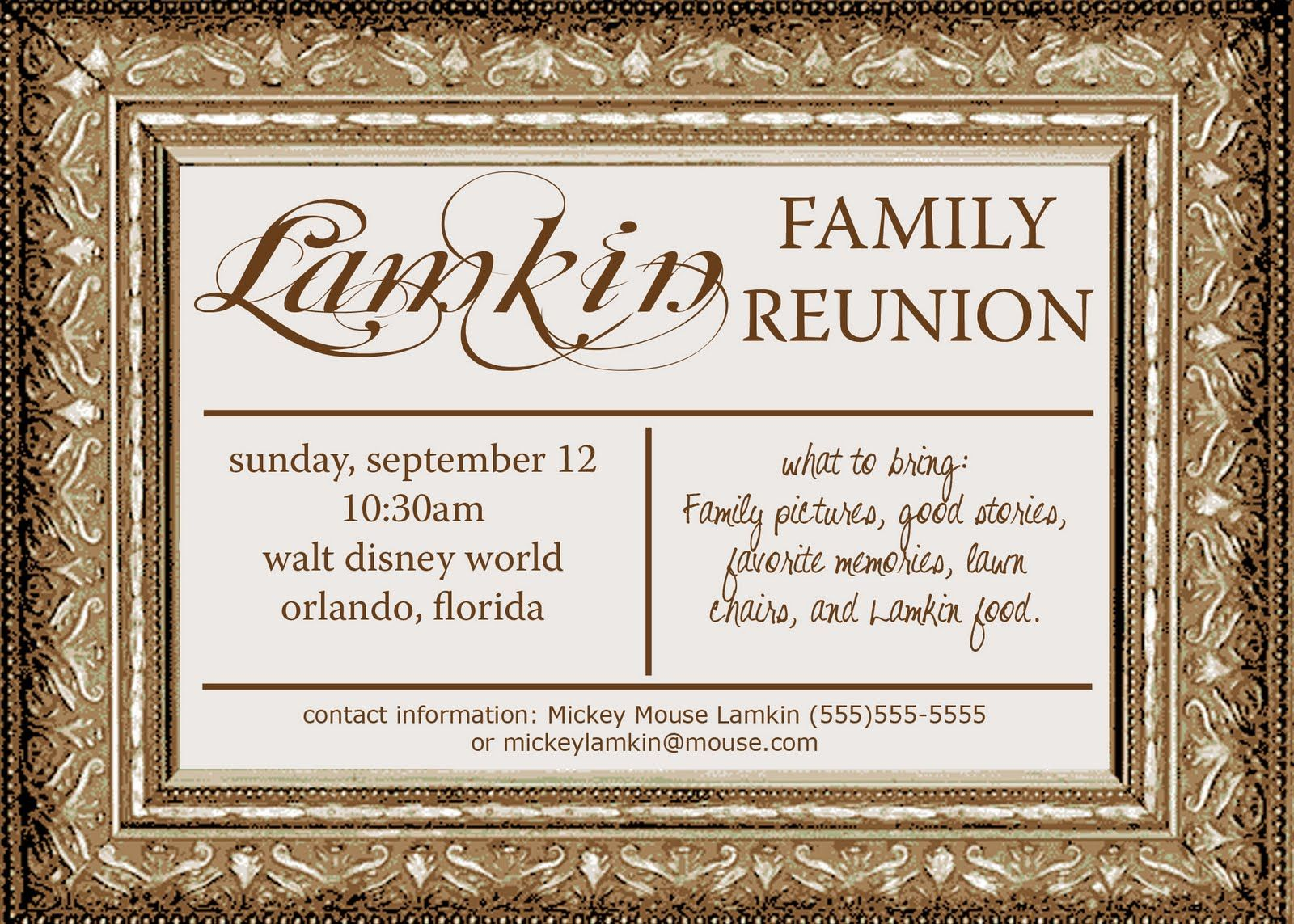 Invitations For Family Reunion simple proposal template format for – Invitations for Family Reunion