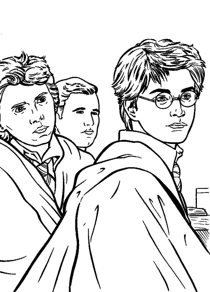 Harry Potter Coloring Pages Deathly Hallows