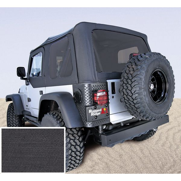 The PreOwned Jeep Store   XHD Soft Top, Black Denim, Tinted Windows, 97