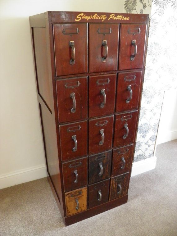 Vintage Simplicity Patterns Haberdashery Cabinet by NeBan81, £600.00