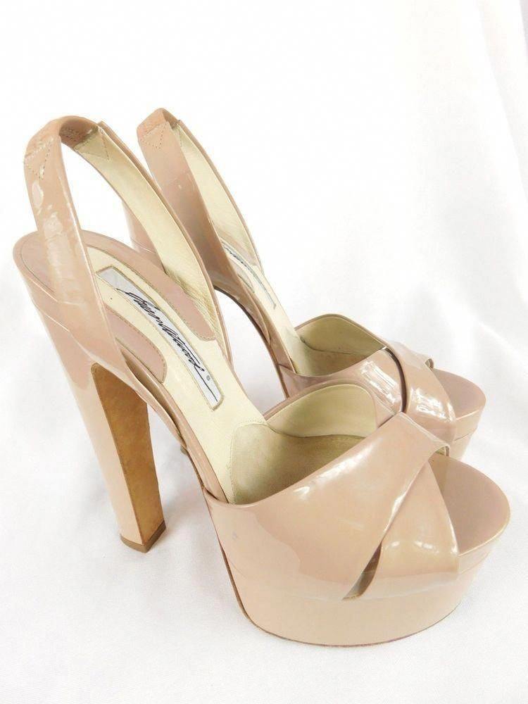 5a08e507570 Brian Atwood Manhattan Nude Platform Heels - Size 37  BrianAtwood   Stilettos  BrianAtwoodHeels