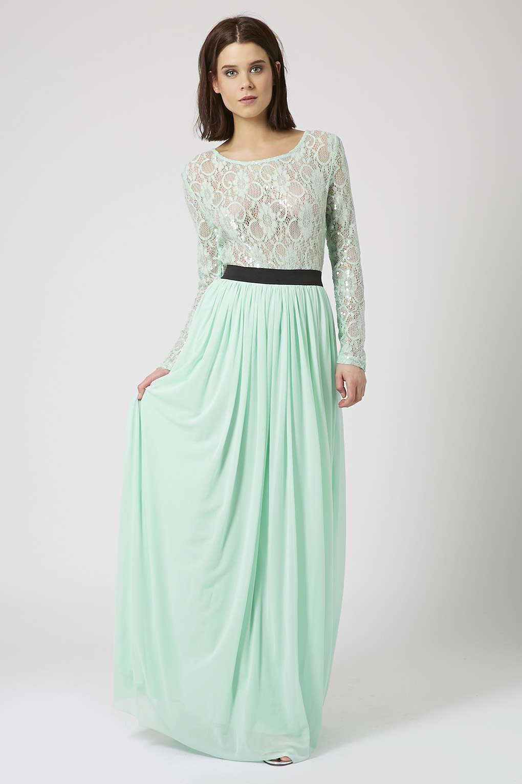 Long Sleeve Lace Maxi Dress by Rare - Dresses - Clothing | Mint ...
