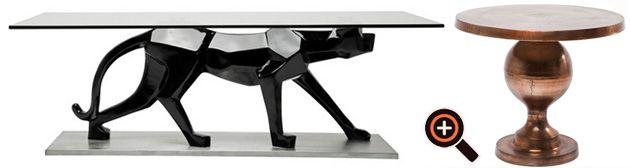 Designer Couchtisch – Wohnzimmertisch modern – Holz, Glas, Aluminium ...