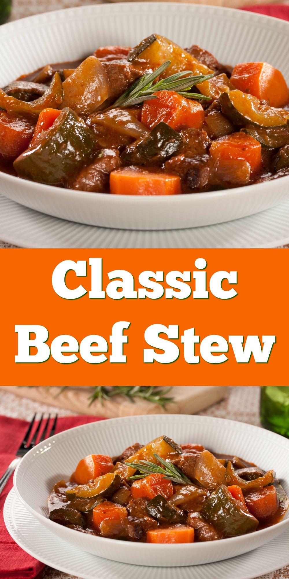 Classic Beef Stew Recipe Diabetic Friendly Dinner Recipes Stew Recipes Classic Beef Stew