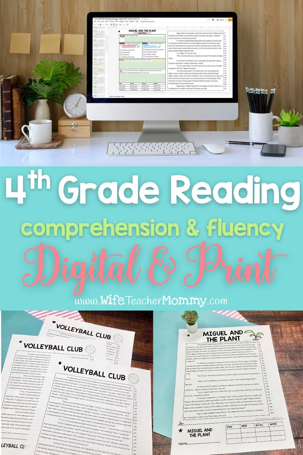 Reading And Oral Fluency For Fourth Grade For The Entire Year Print Digital Wife Tea In 2020 Reading Fluency Passages Oral Reading Fluency Differentiated Reading [ 1500 x 1000 Pixel ]