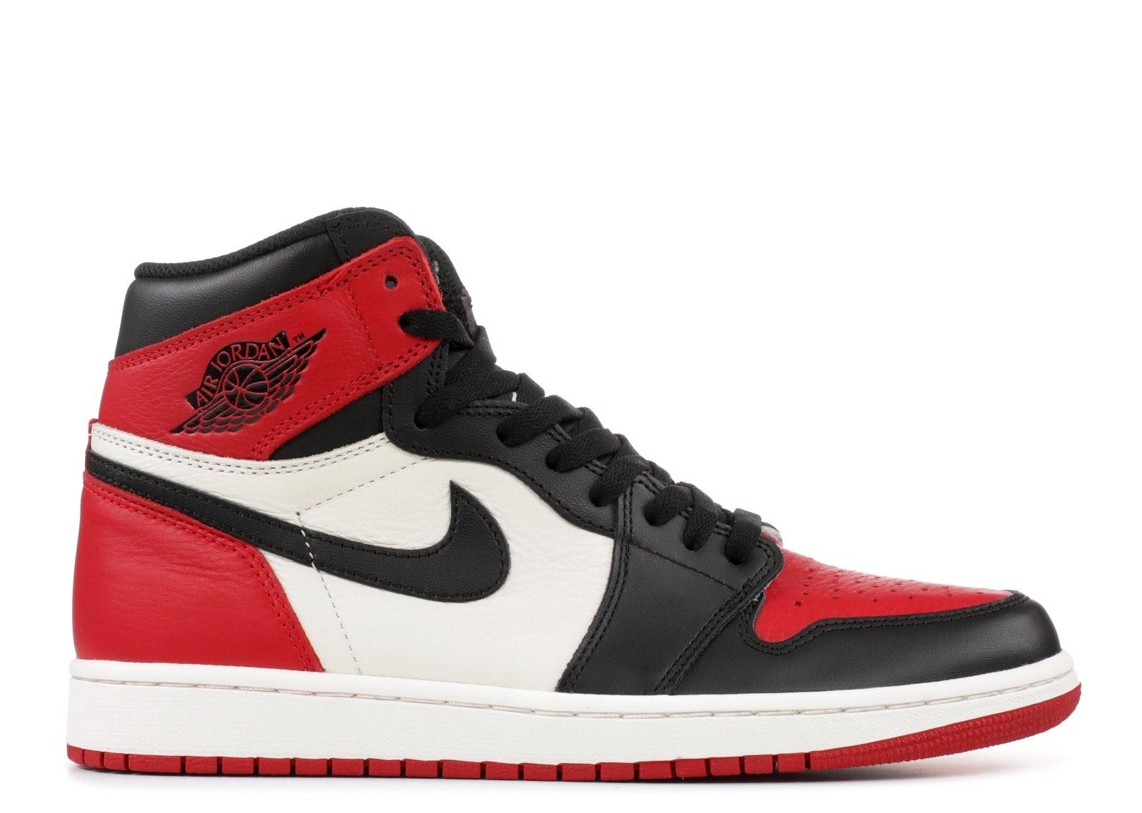 Air Jordan 1 I Retro High OG Bred Toe Gym RedBlackSummit