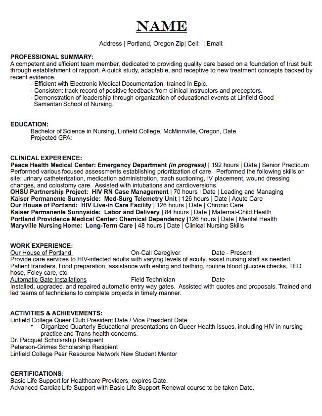 health medical center resume sample http