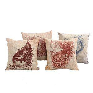 "Yogo-Case Home Decor Cotton Linen Square 4Pcs Pillowcase Set of 4 Vintage Beautiful Scene Throw Pillow Sham Cushion Cover 18"" x 18"". http://www.amazon.com/gp/product/B00TPHGCJC/ref=as_li_tl?ie=UTF8&camp=1789&creative=9325&creativeASIN=B00TPHGCJC&linkCode=as2&tag=pinthrowpillow3-20&linkId=IPT6IYQEAGLAMK6E"