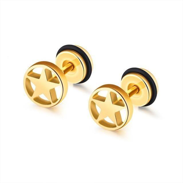 Mens Gold Earrings Designs Earring For Man Price Studs Online India Men S Single