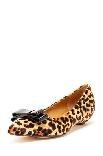 632eb73418 leopard bow flats