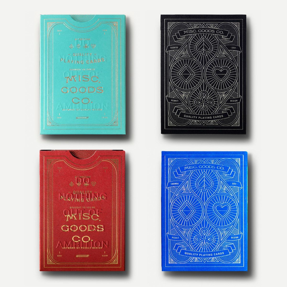 Misc. Goods Playing Cards are a complete redesign, from the unique ...