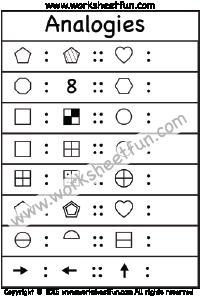 Analogies – 1 Worksheet   Printable Worksheets   Pinterest ...