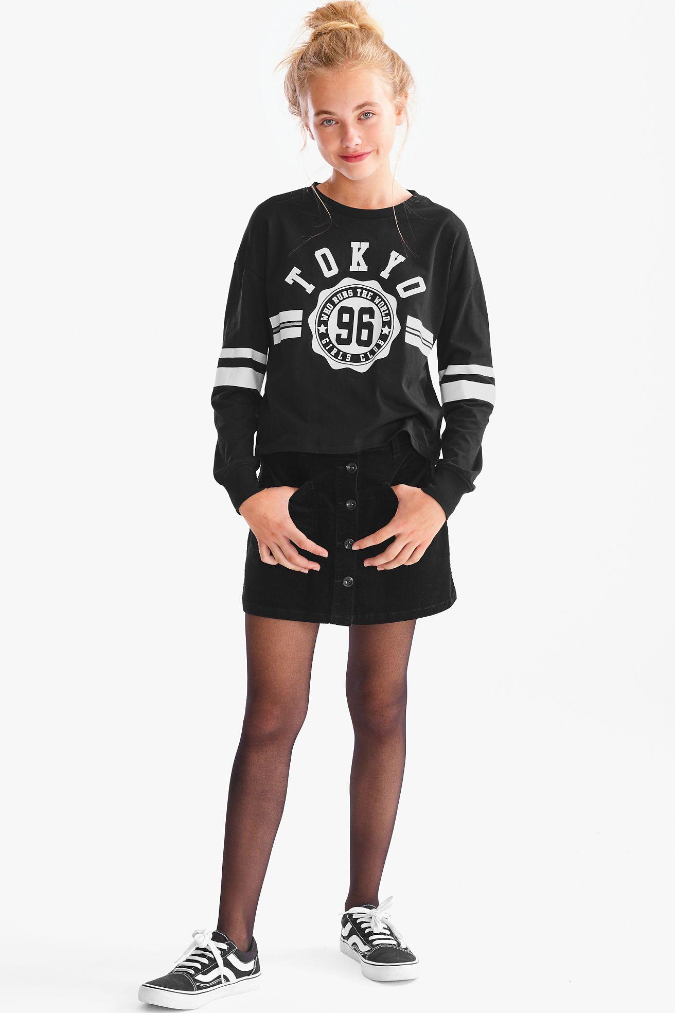 Langarmshirt Junge Madchen Mode Kleid Fur Jugendliche Kindermode Kleider