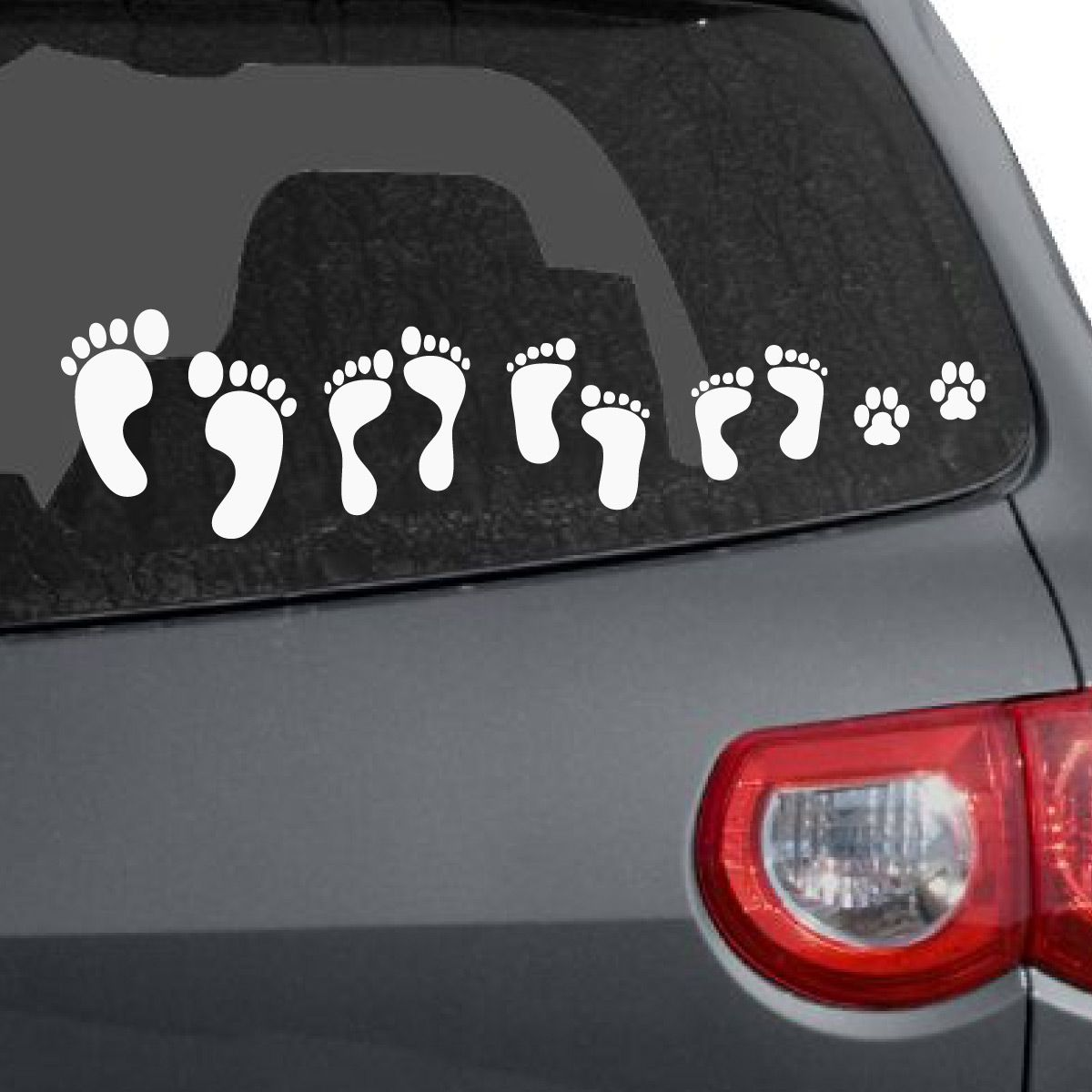 Foot Print Family Car Decal Family Car Decals Family Car Stickers Family Car [ 1200 x 1200 Pixel ]