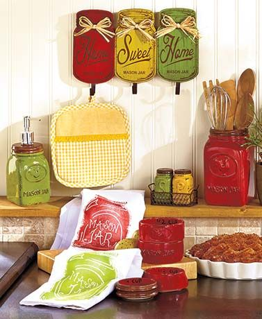 Country Mason Jar Kitchen Collection #kitchencollection