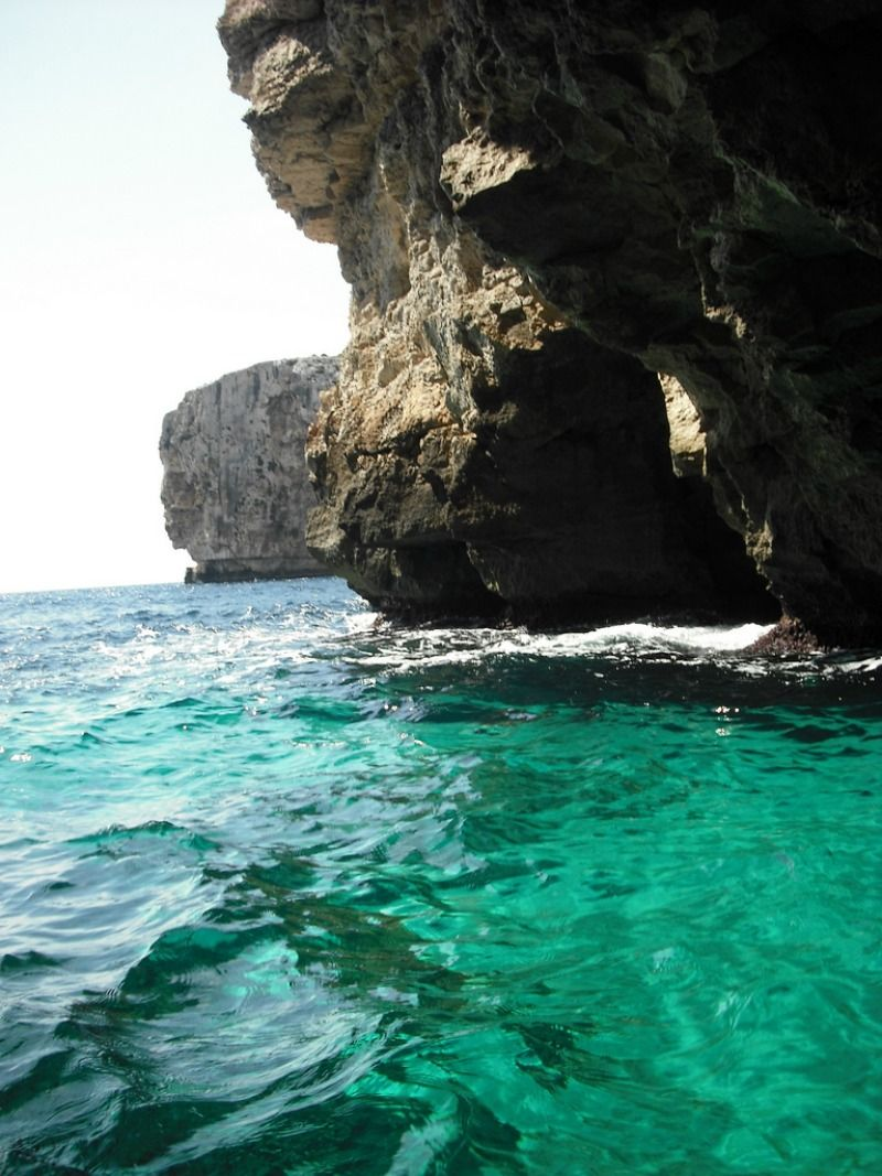 Sea Caves Or The Blue Grotto Are Located On The Island Of Filfla