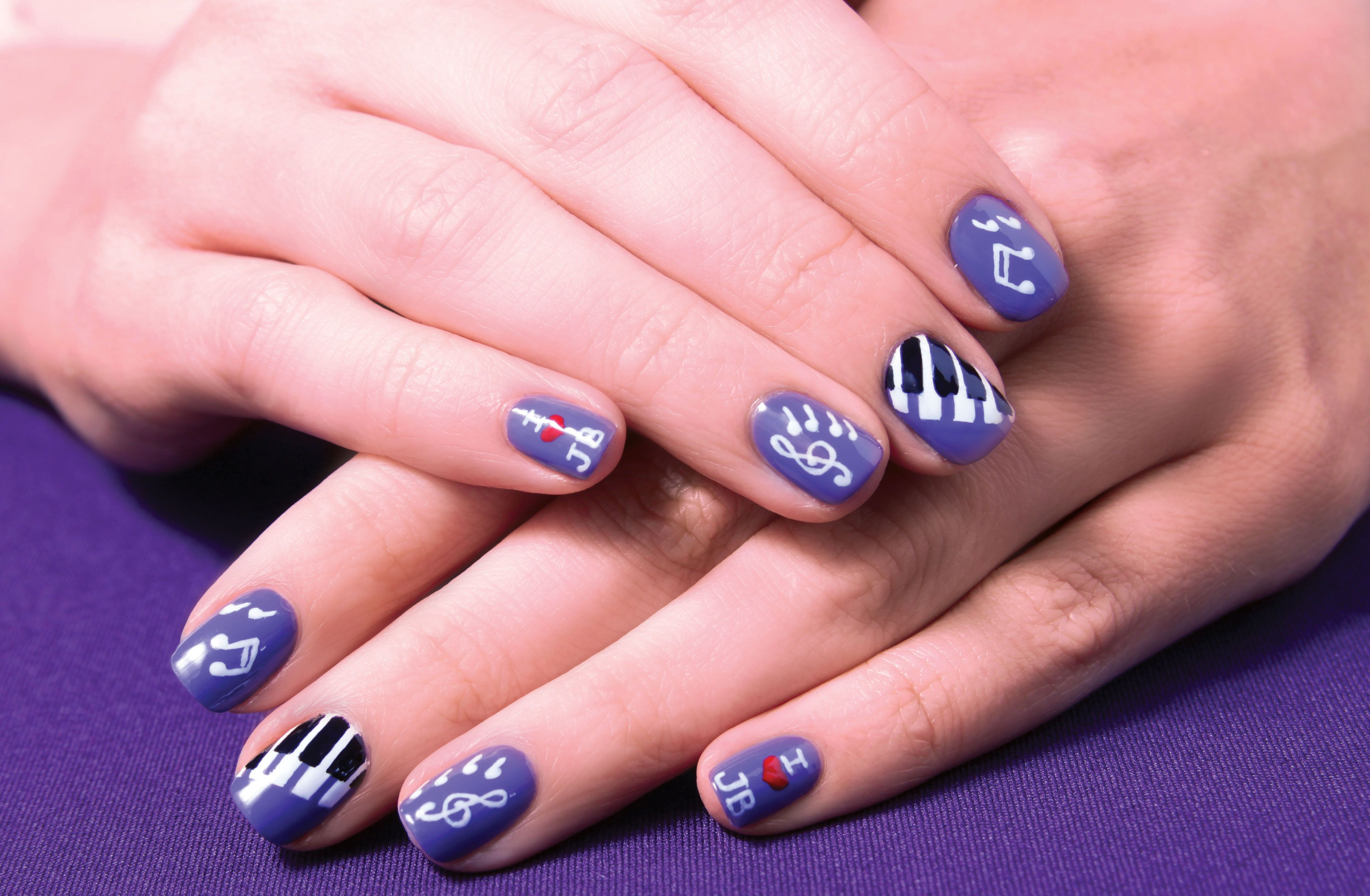 Justin Bieber inspired nail art from The Nail spa www.thenailspa.com ...