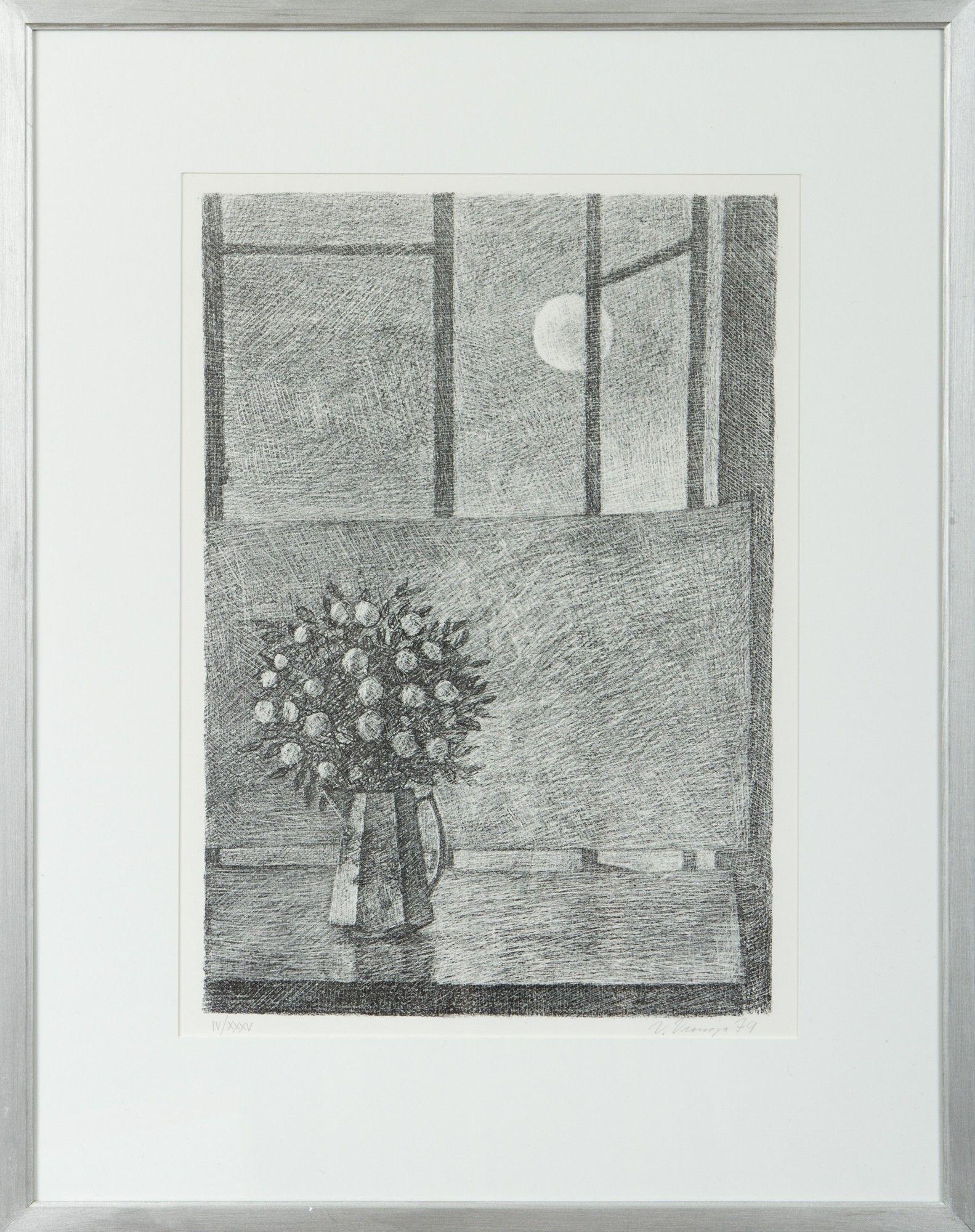 Veikko Vionoja, 1979, litografia, edition IV/XXXV - Hagelstam A131