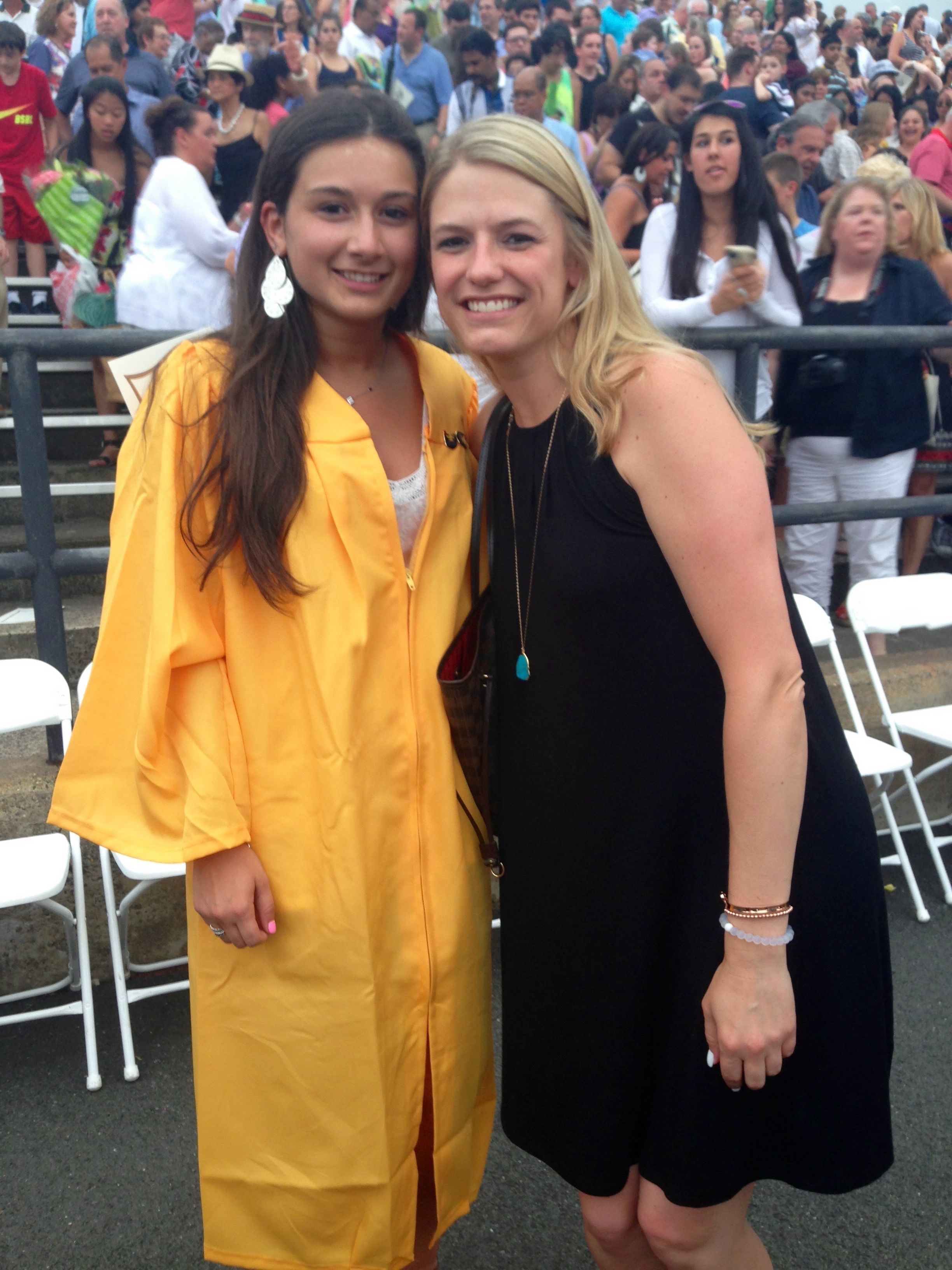 This is me and my kindergarten teacher Ms  Ruszkowski from