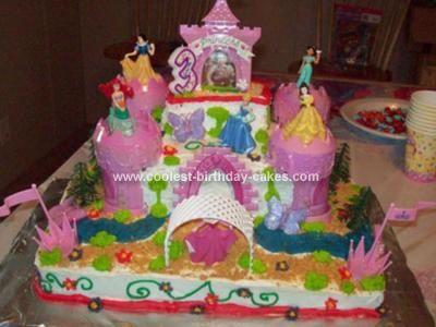 Coolest Princess Castle Cake Disney Disney princess cakes and