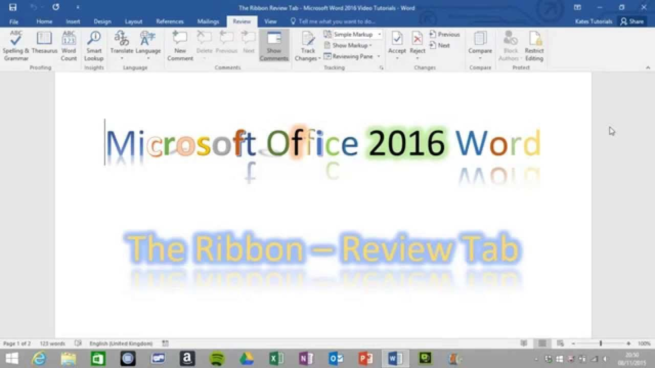2016 microsoft word review