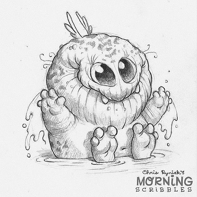 monster with pencil coloring pages - photo#2