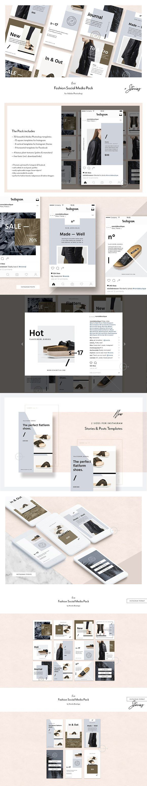 Fashion Social Media Pack • Éva by Nonola on ...