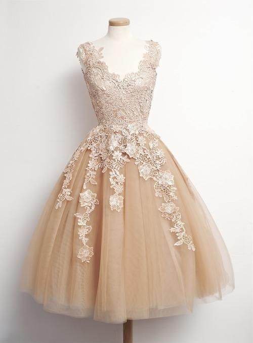 b1fd5f3873d Hot Sale 2015 Paolo Sebastian Lace Champagne Short Prom Dresses V Neck  Sleeveless Tulle Dresses Party Teen Custom Made Cheap Homecoming Dres Prom  Dresses ...