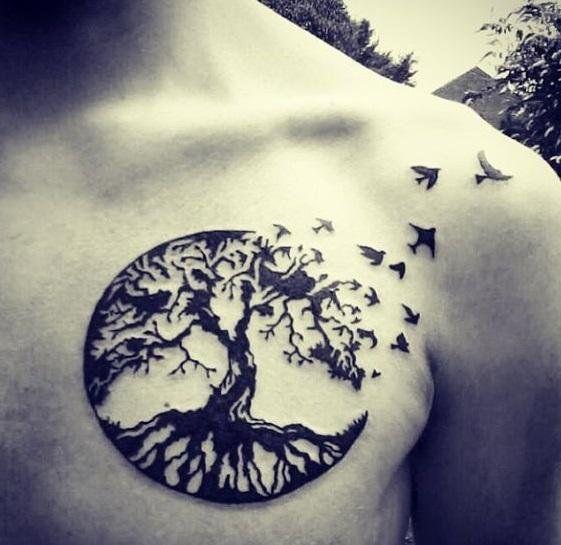 tatouage et signification arbre