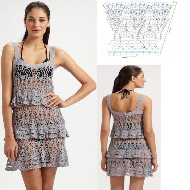 Patrones Crochet: Vestido Sexi Verano Patron | Crochet mis favoritos ...