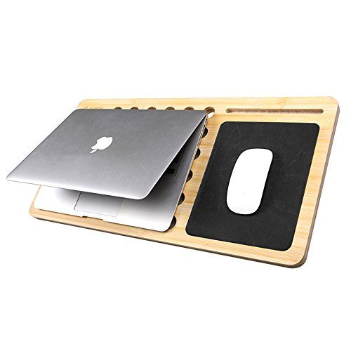 D Park Bamboo Cooling Pad Lapdesk With Slide Out Mouse