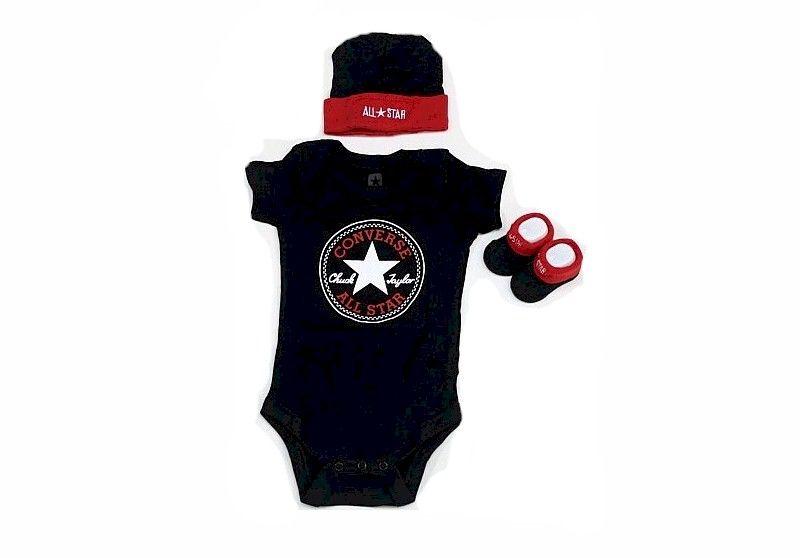 a7ee8682ced Converse All Star Baby Boy s 3 Piece Newborn Set 531279195