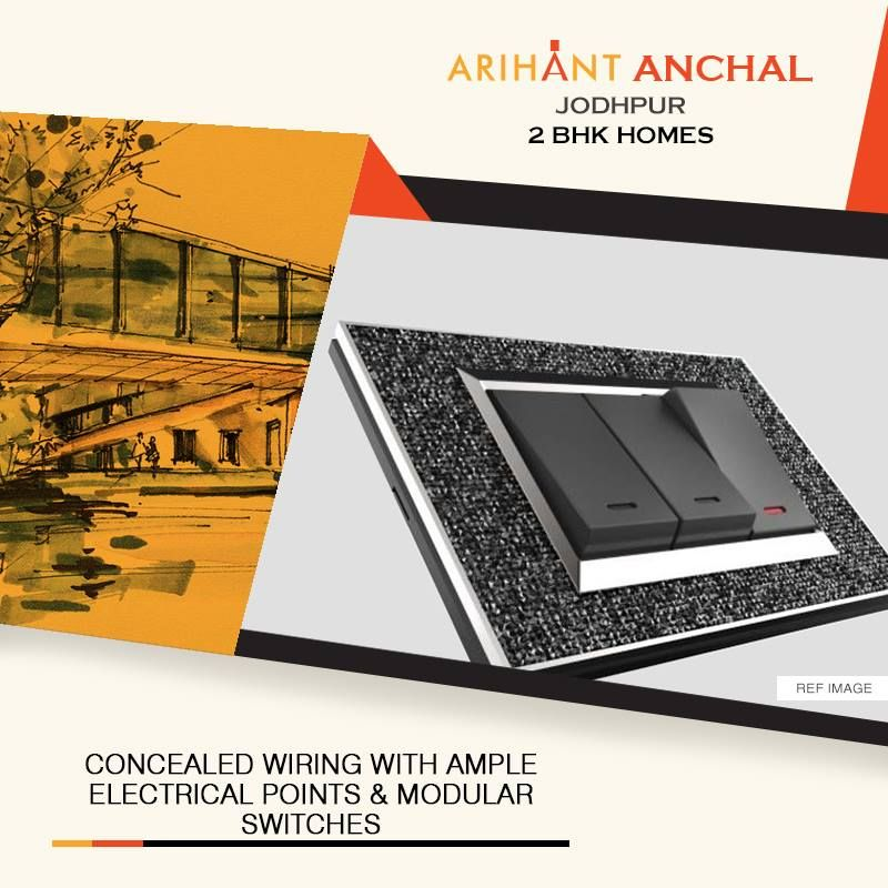 Arihant Anchal - Jodhpur 2 BHK Apartments Concealed Wiring With ...