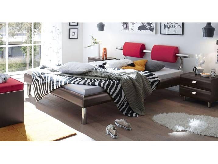 Photo of Designerbett mit Nackenrolle Rocio – 120×220 cm – anthrazit – BETTEN.d